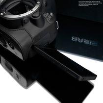Kameratasche aus Leder für Canon EOS 200D von Gariz | Schwarz | XS-CH200DBK Bild 6