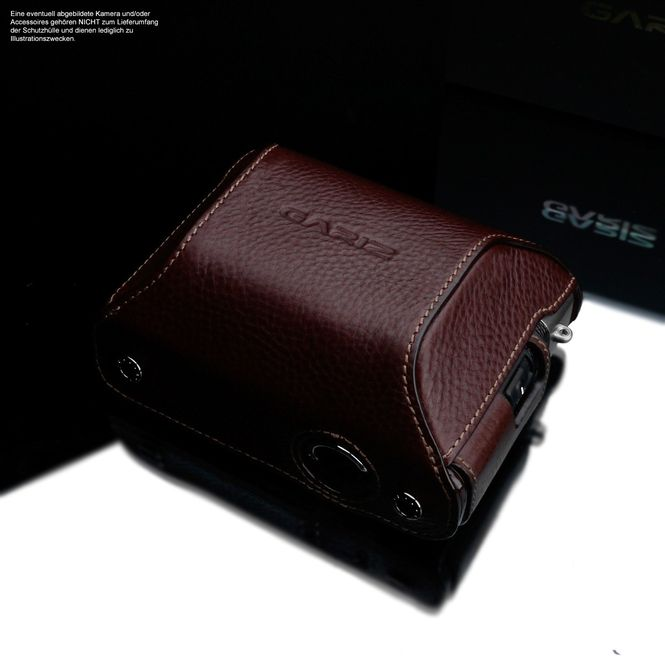 GARIZ real leather protection cover for Sony DSC-RX100 II half case XA-CCRX100IIBR2 Bild 1