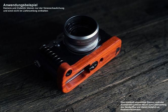 Kamera Handgriff für Fuji Fujifilm X-Pro2 aus Padouk Holz | JB Camera Designs Bild 3
