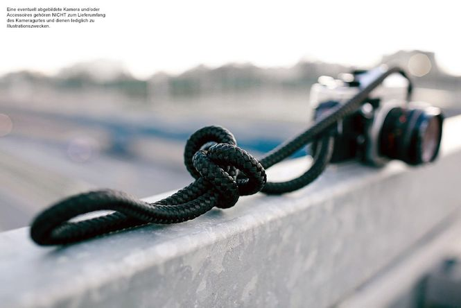 Kameragurt aus Seil geflochten | Schwarz Rot | Limited Edition | Sailor Strap Bild 3