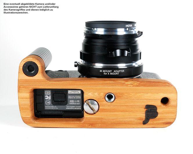 Kamera Handgriff für Fujifilm X-E3 | JB Camera Designs | Bambus | Made in USA Bild 1