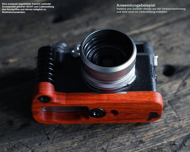 JB Camera Designs Handgriff für Kamera Sony DSC-RX100 Mark VI V IV | Padouk Holz Bild 4