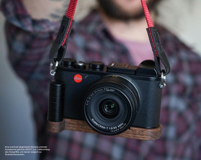 Kamera Griff für Leica CL | Handgefertigt von JB Camera Designs aus Walnuss Holz Bild 4