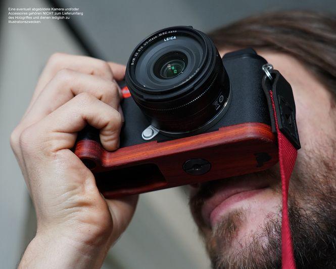 JB Camera Designs Kameragriff für Leica CL | Padouk Holz | Handmade in USA Bild 3