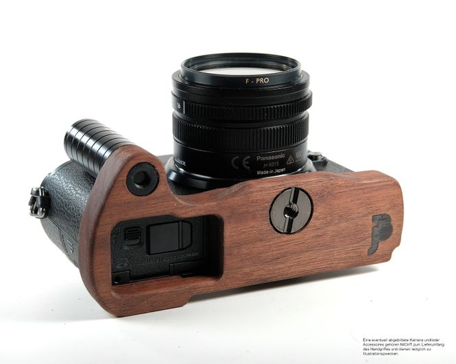 Kamera Handgriff für Panasonic GX9 Systemkamera | JB Camera Designs | aus Holz