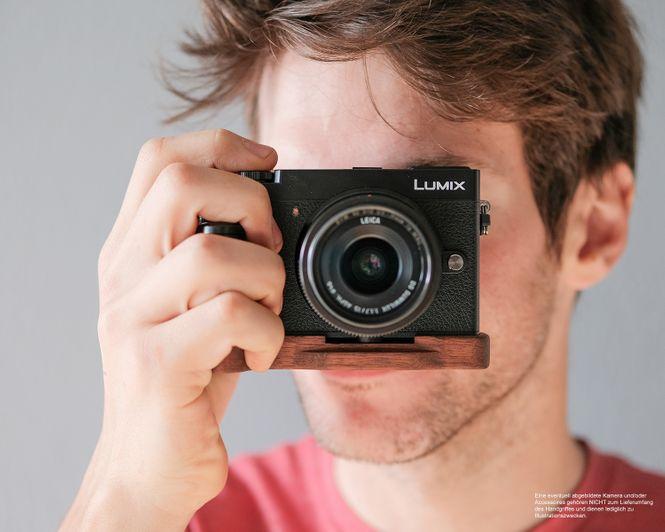 Kamera Handgriff für Panasonic GX9 Systemkamera | JB Camera Designs | aus Holz Bild 3