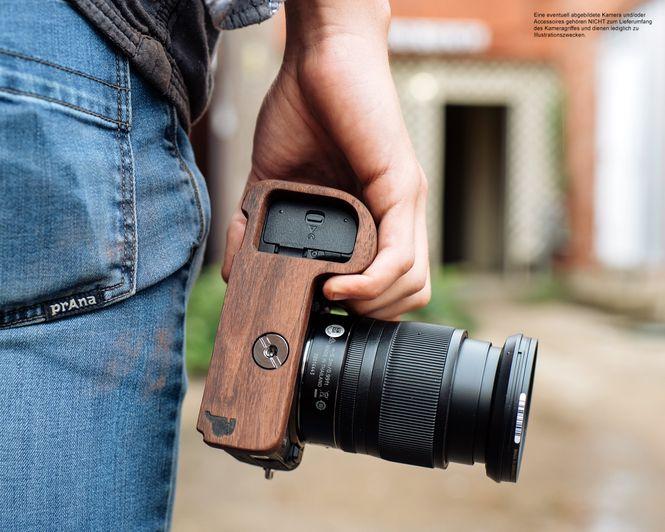 GARIZ leather designer half case for Sony Alpha A7 II A7R Mark II / XS-CHA7IIBK Bild 4