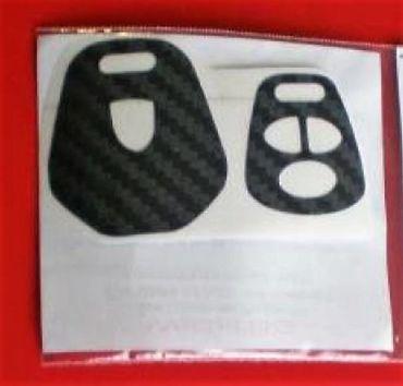 Black Carbon Fiber Key Decor Interior Sticker Coating Fob Porsche Boxster 911