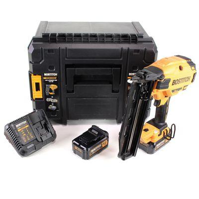 Bostitch BTCN 120 M2 Brushless 18 V Akku 16GA Cloueuse et agrafeuse + 2x Batteries 4,0 Ah + Chargeur + Coffret TStak VI Box – Bild 2
