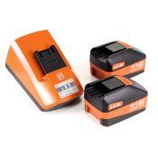 FEIN Starter Set ALG 50 Universal  Chargeur rapide + 2x Batteries 5 Ah  ( 92604300030 )