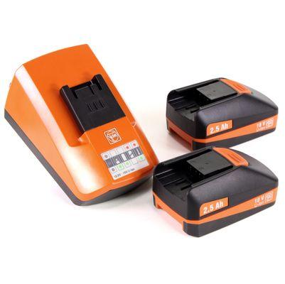 FEIN Starter Set ALG 50 Universal Chargeur rapide + 2x Batteries 2,5 Ah ( 92604300040 ) – Bild 2