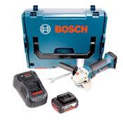 Bosch GWS 18-125 V-LI 125 mm Professional Akku Winkelschleifer in L-Boxx + 1x 5,0 Ah Akku + Ladegerät