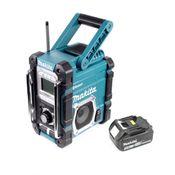 Makita DMR 106 T1 Akku Baustellen Radio 7,2-18V + 1x Akku 5,0Ah - ohne Ladegerät