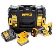 DeWalt DCS 367 18 V Säbelsäge brushless in TSTAK Box + 2x DCB 182 4,0 Ah Akku + DCB 115 Ladegerät