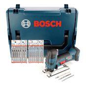 Bosch GST 18 V-LI S Akku Stichsäge Solo + L-Boxx ( 06015A5101 ) + 20x Stichsägeblätter Holz/Metall