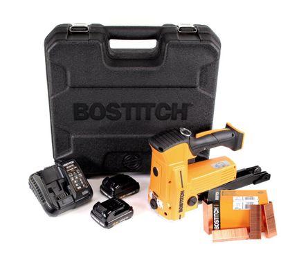 Bostitch DSA-3522-E 10,8 V Akku Kartonverschlusshefter Karton Tacker im Koffer + 2x 1,5 Ah Akku + Ladegerät + 2000 Stk. Kartonklammern 18 mm – Bild 2