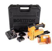 Bostitch DSA-3522-E 10,8 V Akku Kartonverschlusshefter Karton Tacker im Koffer + 2x 1,5 Ah Akku + Ladegerät + 2000 Stk. Kartonklammern 18 mm