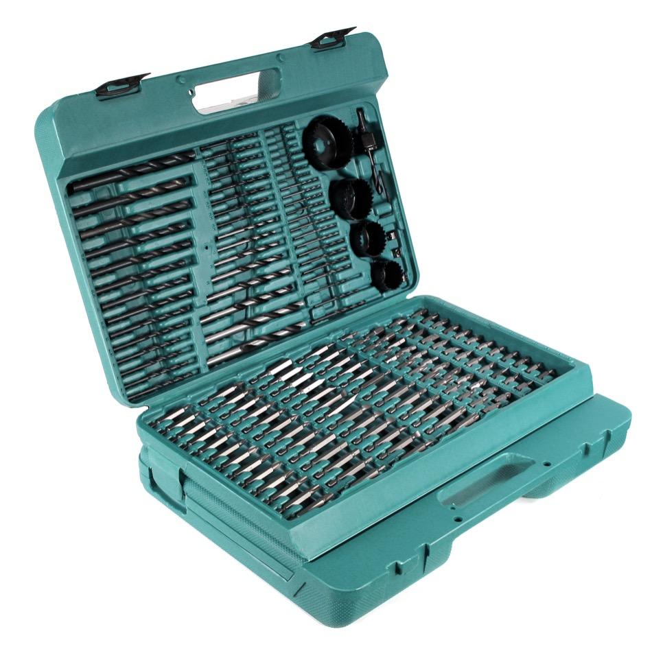 makita p 44046 216 teiliges gro es bit bohrer und zubeh r set im koffer elektrowerkzeug. Black Bedroom Furniture Sets. Home Design Ideas