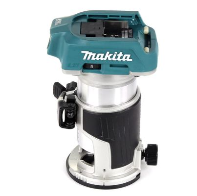 Makita DRT 50 RTJ X2 18 V Li-Ion Affleureuse plaque de plâtre sans fil Brushless avec boîtier Makpac + 1x Batterie BL 1850 5,0 Ah + Chargeur DC18RC + Module de fraisage – Bild 3