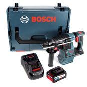 Bosch GBH 18 V-26 Akku Bohrhammer 18V SDS-Plus + Staubabsaugung + 1x Akku 6,3Ah Eneracer + Ladegerät + L-Boxx