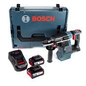 Bosch GBH 18 V-26 Akku Bohrhammer 18V SDS-Plus + Staubabsaugung + 2x Akku 6,3Ah Eneracer + Ladegerät + L-Boxx