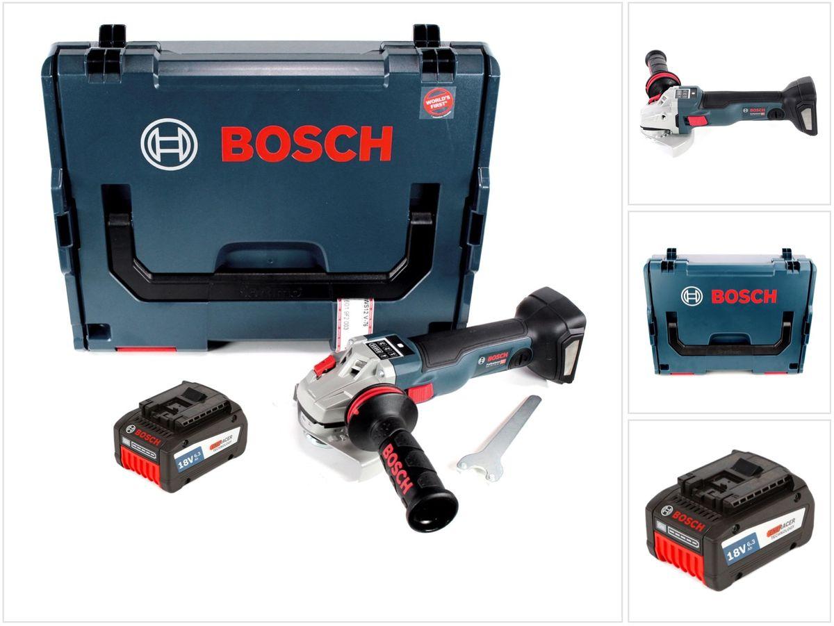 bosch gws 18 v 125 sc professional akku winkelschleifer 125mm brushless in l boxx 1x gba 6 3. Black Bedroom Furniture Sets. Home Design Ideas