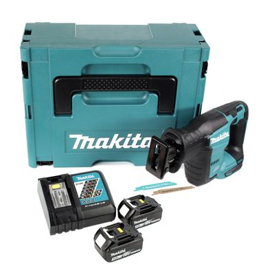 Makita DJR 188 RFJ Akku Reciprosäge 18 V Brushless Säbelsäge im Makpac + 2x 3,0 Ah Akku + Ladegerät – Bild 2
