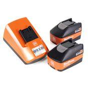 FEIN HighPower Akku Starter Set ALG 50 Universal Schnell Ladegerät + 2 x 5,2 Ah Akku ( 92604307010 )