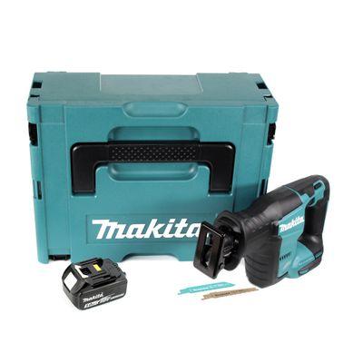 Makita DJR 188 RTJ 18 V Brushless Li-ion Scie récipro sans fil avec Coffret de transport Makpac  + 1x Batterie Makita BL 1850 5,0 Ah / 5000 mAh - sans Chargeur – Bild 2