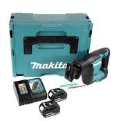 Makita DJR 188 RTJ 18 V Brushless Li-ion Akku Recipro Säbelsäge im Makpac + 2x Makita BL 1850 5,0 Ah / 5000 mAh Akku + Makita DC 18 RC Schnellladegerät