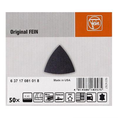 FEIN Delta Schleifblätter ungelocht mit Klett 50 Stück Körnung 40 ( 63717081018 ) – Bild 3