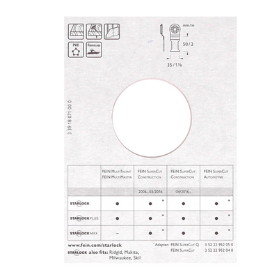 FEIN Long-Life E-Cut Starlock Sägeblatt 35 mm 3 Stk.  ( 63502160220 ) BI-Metall – Bild 4