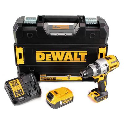 DeWalt DCD 991 P1 Akku Bohrschrauber 18V 95Nm Brushless + 1x Akku 5,0Ah + Ladegerät + TSTAK – Bild 2
