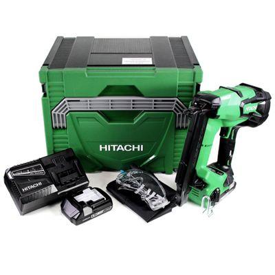 Hitachi NT 1850 DBSL 18 V Cloueuse sans fil avec boîtier HSC IV + 2x Batteries BSL 1830 + Chargeur UC 18 YFSL  – Bild 2