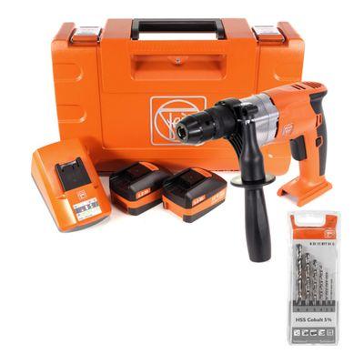 FEIN ABOP 10 Brushless 18 V Li-Ion Akku Bohrmaschine mit Metallbohrfutter + 2 x 5,0 Ah Akku + Lader im Koffer + HSS Spiralbohrer Set Cobalt 5% 2-8 mm 6-teilig – Bild 2