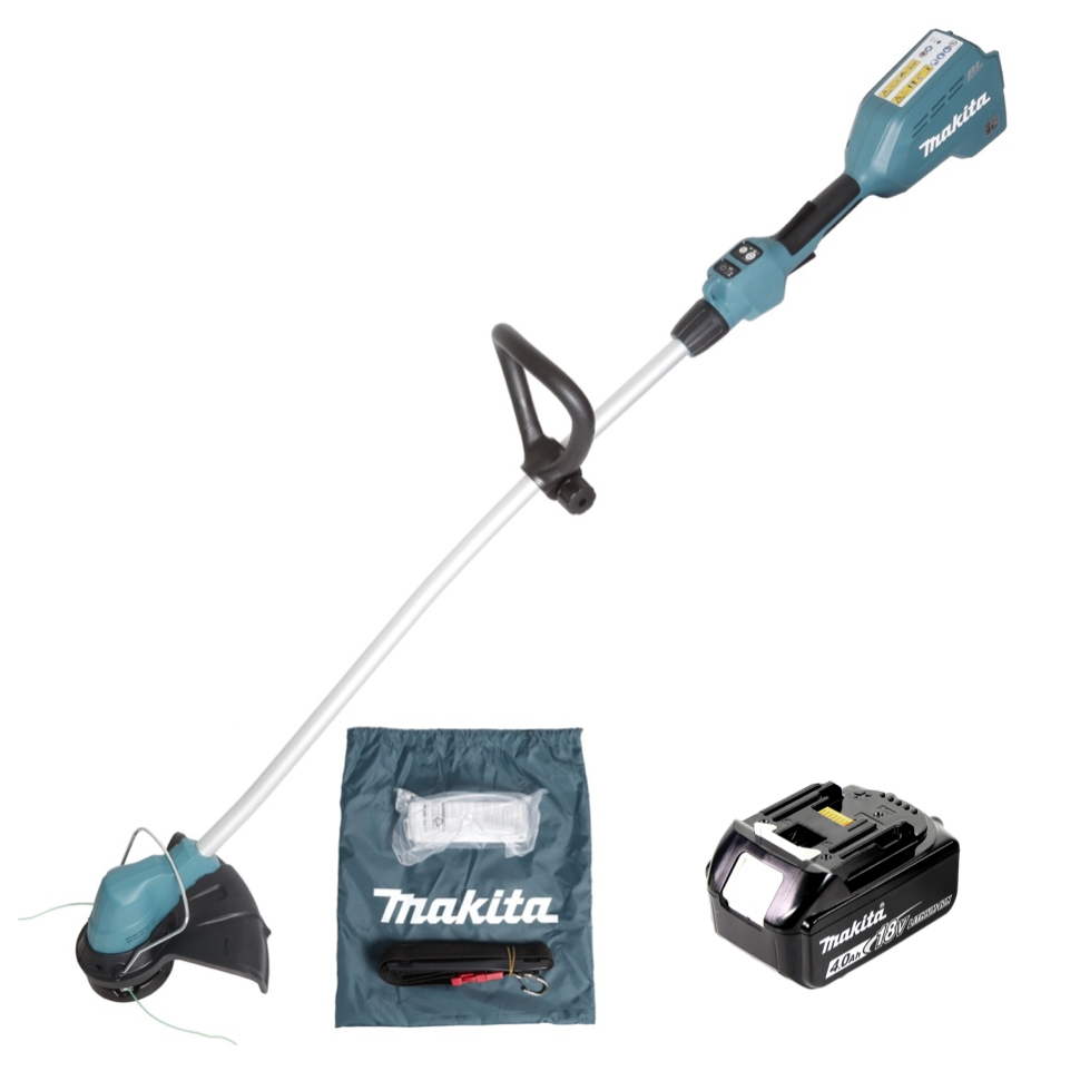 makita dur 184 m1 18 v brushless akku rasentrimmer 1x bl 1840 4 0 ah akku ebay. Black Bedroom Furniture Sets. Home Design Ideas