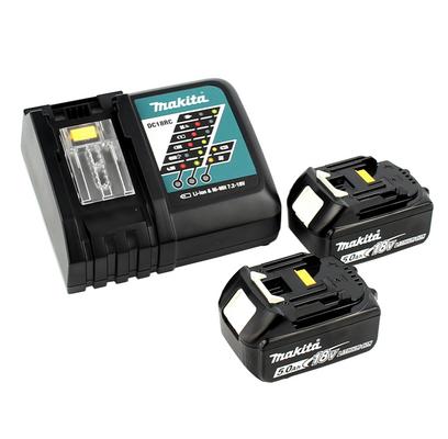 Makita DUR 184 RT 18 V Li-Ion Coupe-herbe sans fil + 2x Batteries BL 1850 5,0 Ah + Chargeur rapide DC 18 RC – Bild 4