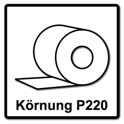 Festool Abrasif en rouleau 115 x 25 m P220 GR Granat ( 201110 )  – Bild 4
