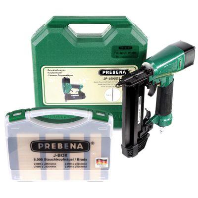 Prebena 2P-J50SDS Cloueur pneumatique 5-7 bar avec Coffret de transport + Agrafes Prebena J-BOX 8.000 – Bild 2