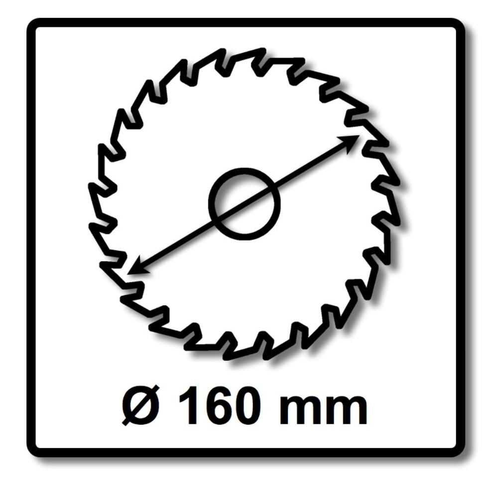 Bosch Kreissägeblatt Expert for Wood 160 x 20 x 2,2 mm 24 Zähne ( 2608644016 ) – Bild 2