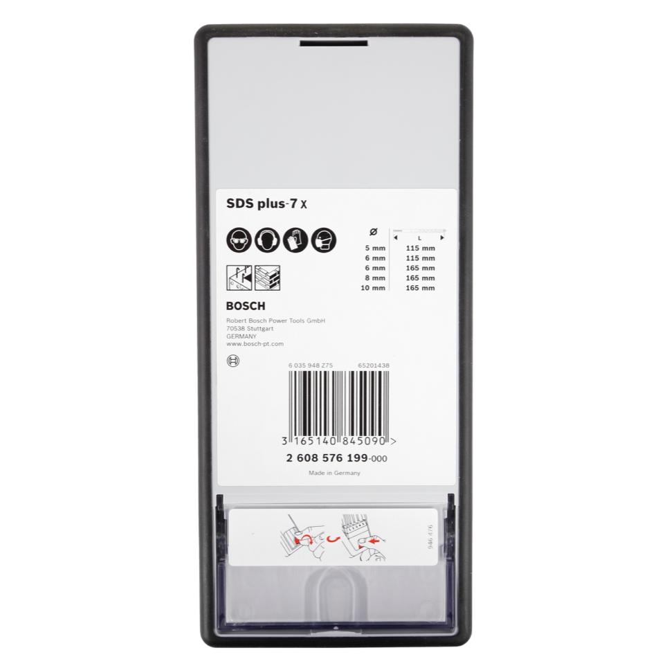 Bosch Bohrer Set Sds Plus 7x 5 Tlg Betonbohrer 2608576199