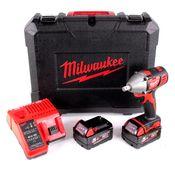 Milwaukee M18 BIW12-502C 18 V Li-Ion Akku Schlagschrauber im Koffer + 2x 5,0 Ah Akku + M12-18C Ladegerät