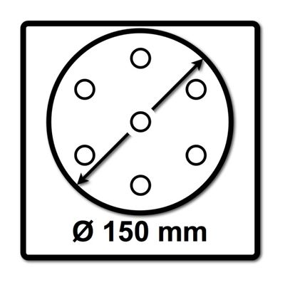 Festool STF D150/48 Rubin 2 RU2/50 Schleifscheiben, P60, 150 mm / 50 Stk. ( 575187 ) – Bild 3