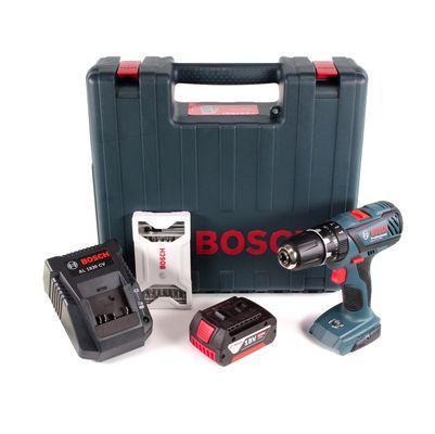 Bosch GSB 18-2-Li Plus Schlagbohrschrauber Professional 18 V im Koffer + 1x GBA 4,0 Ah Akku + Ladegerät + 25 tlg. Zubehörset ( 0615990K4B )