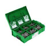 SPAX® Montagekoffer T-STAR Plus Schraubenset 703 tlg. mit 6 Abmessungen WIROX 4CUT, Senkkopf in L-Boxx Mini ( 5000009162019 )