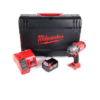 Milwaukee M18 FMTIWF12-501CX Akku Schlagschrauber 18 V Brushless 610 Nm in HD Box + 1 x 5,0 Ah Akku + Ladegerät – Bild 2