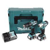 Makita CLX 205 AJ HP332D 10,8 V Akku Schlagbohrschrauber und TD111D Akku Schlagschrauber + 2 x 2,0 Ah Akku + Ladegerät