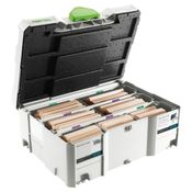 Festool Domino XL Sort. DS/XL D12/D14 Dübel Buche 128 Stck. BU im Systainer ( 498205 )