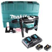 Makita DHR 400 PM2U 2 x 18 V / 36 V Li-Ion Akku Bohrhammer Kombihammer SDS-Max im Koffer + 2 x 4,0 Ah Akku + Doppelladegerät