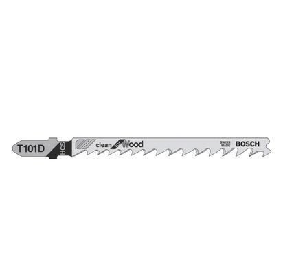 Bosch T 101 D Stichsägeblätter Clean for Wood für Holz - 100 Stück, progressive Zahnausführung, für Stichsägen mit T-Schaft-Aufnahme – Bild 4
